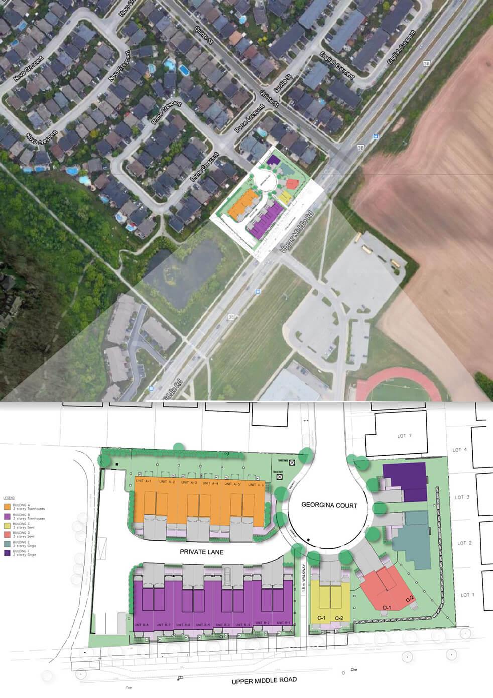Site plan Bronte Enclave